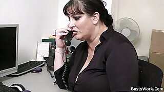 My BBW colleague gives perfect blowjob in the office video