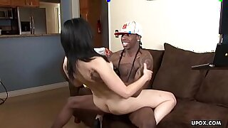 Small pussy Ebony cougar spoiling hair