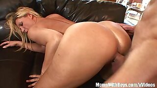 Awesome blonde with big tits and pierced pussy herself