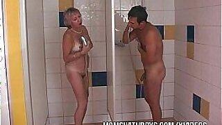 Horny Slut In a Negro Shower