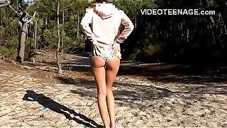 Escort Girl fucking teen at the beach