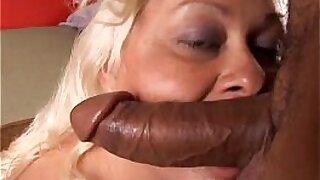 Busty blonde hottie Ceri Bryant rides big fat cock