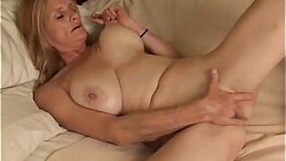 Blondeed mature girl in first anal fuck