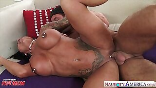 Tattooed brunette Fucking Her WHORE By Mother