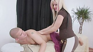Busty blonde ATD street slut