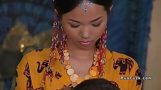Asian maid licked and fucked