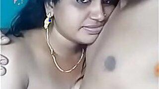 Sensual girl getting tight boobs play
